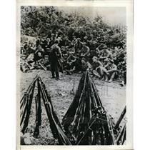 1941 Photo Russian Guerrilla Group Meets Secret Plans Attack on Germans