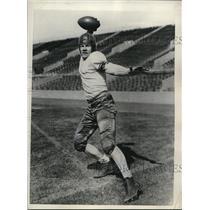 1936 Press Photo Don Head Northwestern Univ football team - nes22648