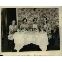 1929 Press Photo Lalle Lynn, Elizabeth Dunlap, Virginia Yellott, Caroline Henry,