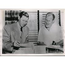 1951 Press Photo St Louis Mo Marty Marion signs contract with Browns owner B Vee