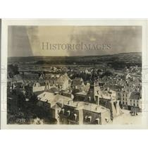 1918 Press Photo Panorama shelled city of Chateau Thierry,France