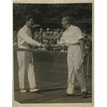 1923 Vintage Photo Brugnon Congratulates John Hawkes Brookline Courts