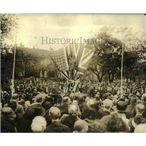 1922 Press Photo Unveiling of Edmund Burke Statue