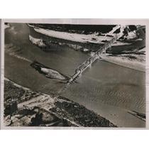 1936 Press Photo Washed Out Bridge, Cagayan Valley, Bayonbong, Philippines