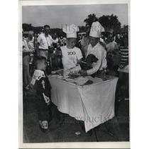 1949 Press Photo James McCracken, John Borden, Duane Reed at Annual Pet Parade