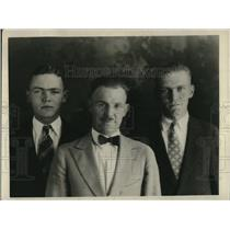 1930 Press Photo Patterson French, Herbert Tay and James Whyte. Pomona College