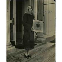 1925 Press Photo Genealogical Expert Bettie Cater trace President's ancestry