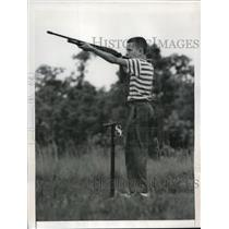 1949 Press Photo Canty Heath, 12, young skeet master