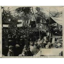 1924 Press Photo Sanno Park Toyko Japan mass meeting demands govt action