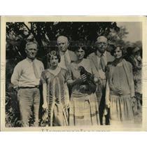 1925 Press Photo Pratt County Redhead Contest Judges, Rhode Island Rooster