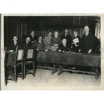 1923 Press Photo President of the Dusseldorf State  address a meeting