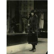 1921 Press Photo Mme Oriko Komatsu, private secretary of Admiral H Kato