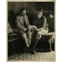 1925 Press Photo John Coolidge, son of President Coolidge, and Hal Ronson.