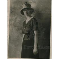 1920 Press Photo Lucile alias Ruth Jones, the Mona Lisa