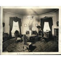1921 Press Photo Williard Hotel Presidential Suite Sitting Room, Washington