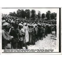 1956 Press Photo 4,000 Kabyles gather to demonstrate their pro-french sympathy