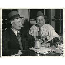 1934 Press Photo Deputy Sheriff William Levy and Joe B. Maier