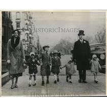 1931 Press Photo Dr. and Mrs. R.J. Heffernan and their five children