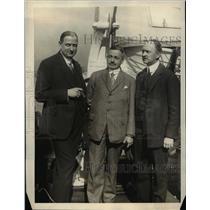 1923 Press Photo Dr. O.C.Kiep, Dr. W. Kiesselbrach and Dr. K. Von Lewinski