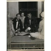 1930 Press Photo Eric Pedley, Mrs. Charles B. Wrightman and Winston Guest