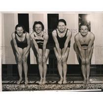 1934 Press Photo Joahnna Gorman, Anna Mae Gorman, Louis Clark, Lenore Kight