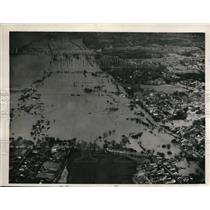 1933 Press Photo Aerial Birdseye View of Ohio River Flooding Louisville Kentucky