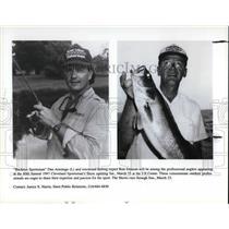 1997 Press Photo Dan Armitag and Ron Johnson at Annual Clevela\nd Sportman show