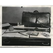 1932 Press Photo Table Knife, Auto Axle, Tire Tool Used by Killer Robert Harris