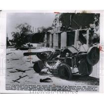 1955 Press Photo The wreckage of an Egyptian army camp