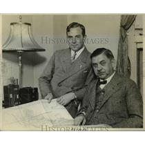 1929 Press Photo George Froebel & Erich Liemkugel of German Balloon Stadt Essen