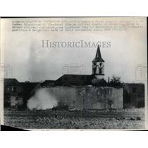 1946 Press Photo Destruction of German blockhouse Siegfried Line by French Army