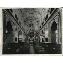 1938 Press Photo The Ornate Decor of the Basilica in Quebec, Canada
