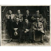 1930 Press Photo Intimidating Smiles from Chicago's Amateur Boxing Team- Boston