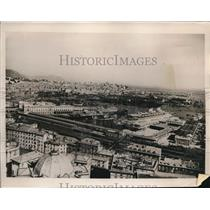 1940 Vintage Press Photo aerial view of Genoa, Italy