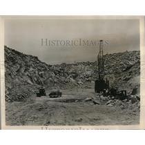 1954 Press Photo Floor of Michigan Limestone's new dolomite quarry