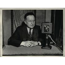 1932 Press Photo Kurt Sell German newspaper man in Wash DC