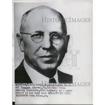 1953 Press Photo Dr. Douglas South all Freeman, 67, Pulitzer Prize winning