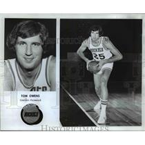 1977 Press Photo Blazers Center forward Tom Owens