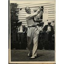 1934 Press Photo Wiffy Cox, Professional Golfer, at National Open Championship