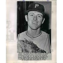 1985 Press Photo Dick Stuart, Pittsburgh Pirates Baseball Team First Baseman