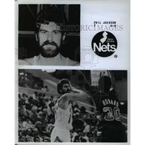 Press Photo New Jersey Nets Phil Jackson