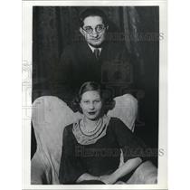 1936 Press Photo Dr Franz Sarga with his wife Mme Magda Sarga