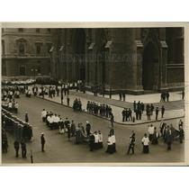 1918 Press Photo NYC Funeral of Cardinal Farley at St Patrick's church