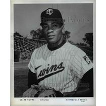 Press Photo Cesar Tovar Infielder Minnesota Twins Baseball Player