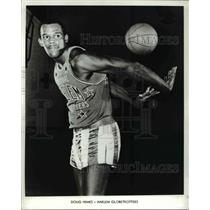 1970 Press Photo Doug Himes of the Harlem Globetrotters