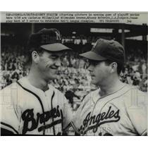 1959 Press Photo Starting Pitchers Carleston Willey & Danny McDevitt