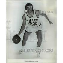 1973 Press Photo Dave DeBusschere, star forward for the New York Knicks