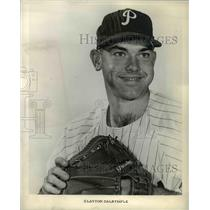 1960 Press Photo Clayton Dalrymple, pitcher for Philadelphia Phillies