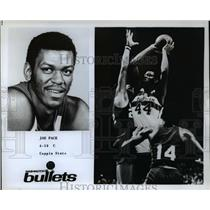 Undated Press Photo Washington Bullets Center Joe Pace