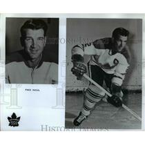 Press Photo Fred Hucul of  Victoria Maple Leafs hockey
